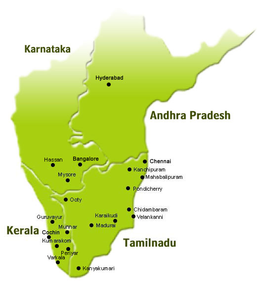 south india map